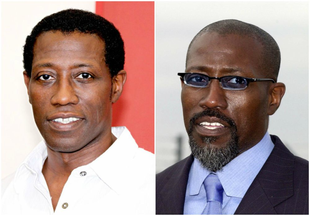 Wesley Snipes` eyes and hair color