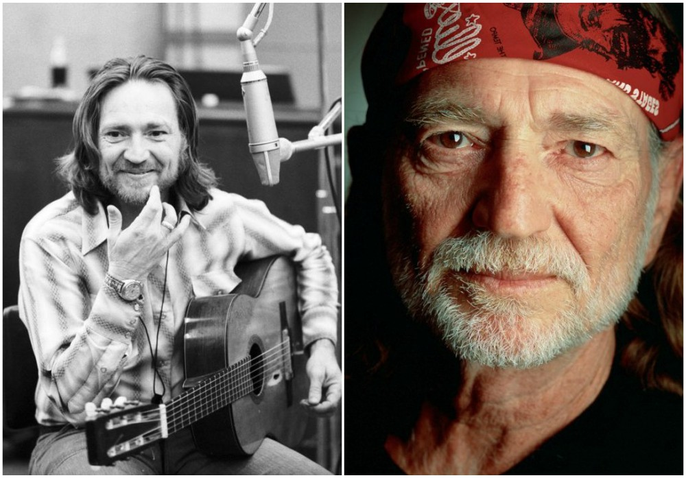 Willie Nelson`s eyes and hair color