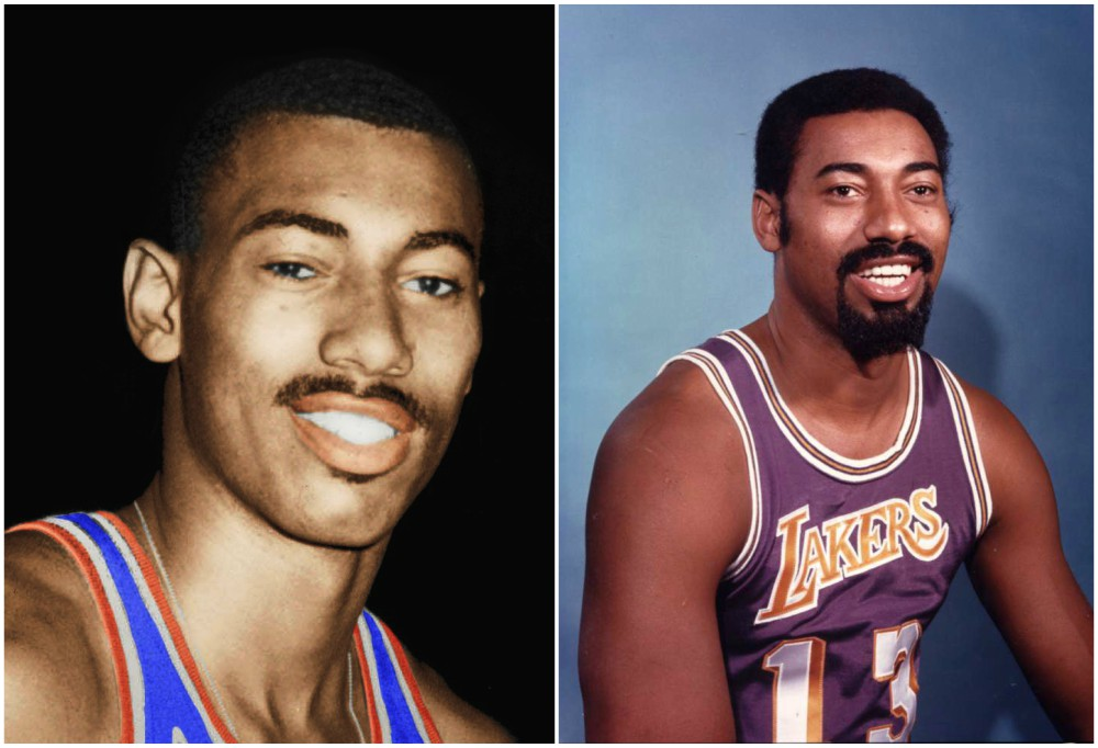 Wilt Chamberlain`s eyes and hair color