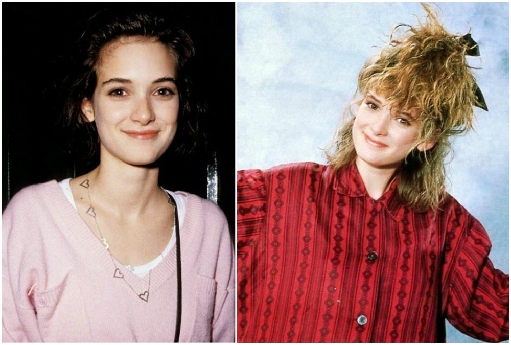 Winona Ryder`s eyes and hair color