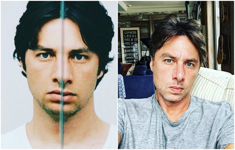 Zach Braff`s eyes and hair color