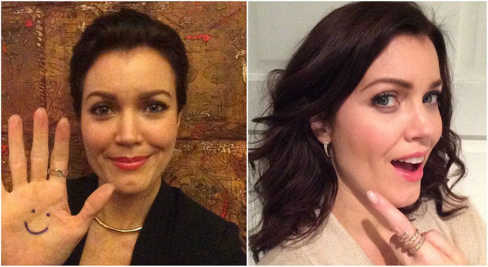 Bellamy Young`s eyes and hair color