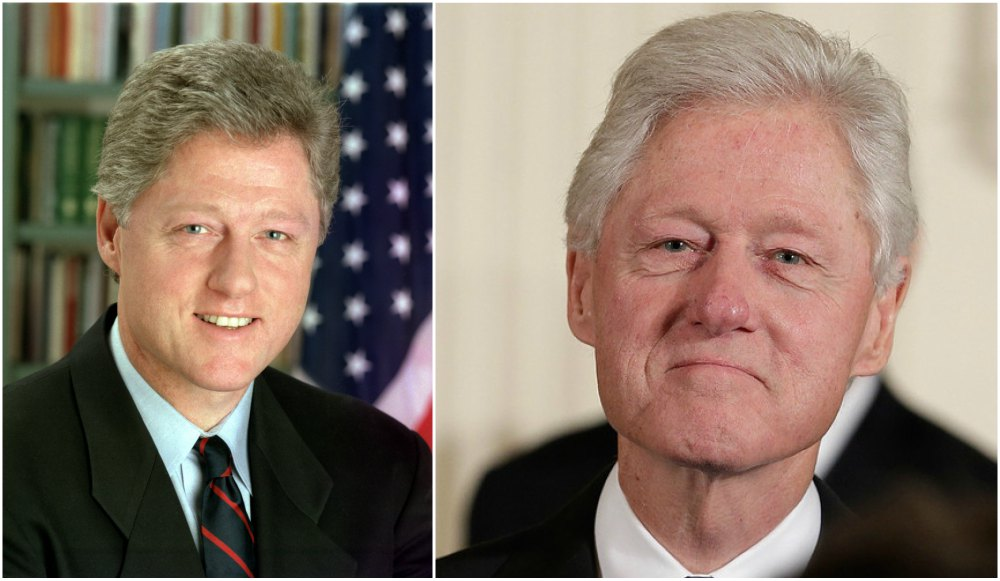 Bill Clinton`s eyes and hair color