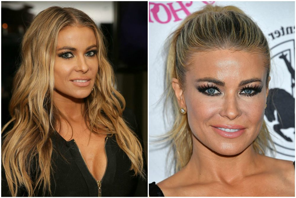 Carmen Electra`s eyes, hair color