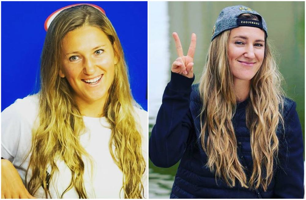 Victoria Azarenka`s eyes and hair color
