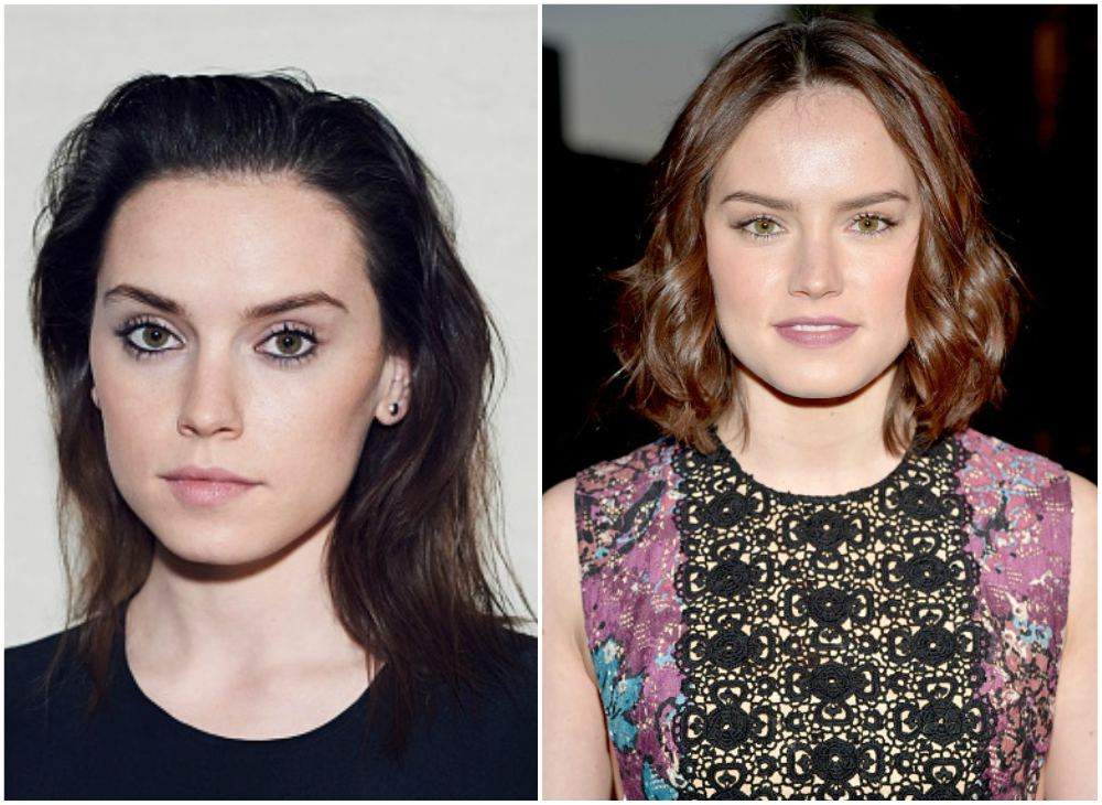Daisy Ridley`s eyes and hair color
