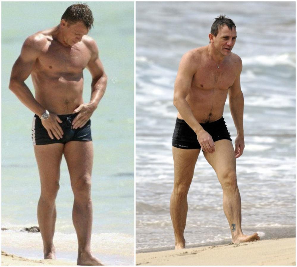 Daniel Craig`s height, weight. James Bond's athletic body