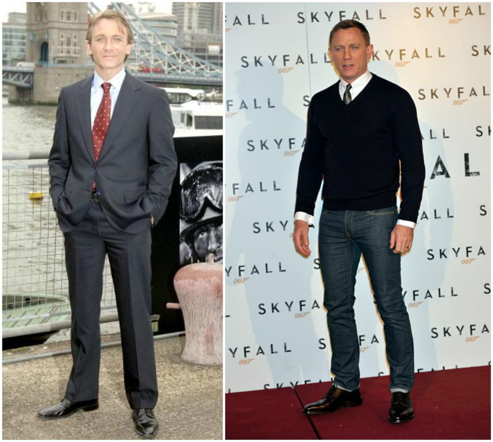Daniel Craig`s height, weight. James Bond's athletic body