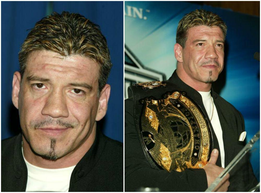 Eddie Guerrero`s eyes and hair color