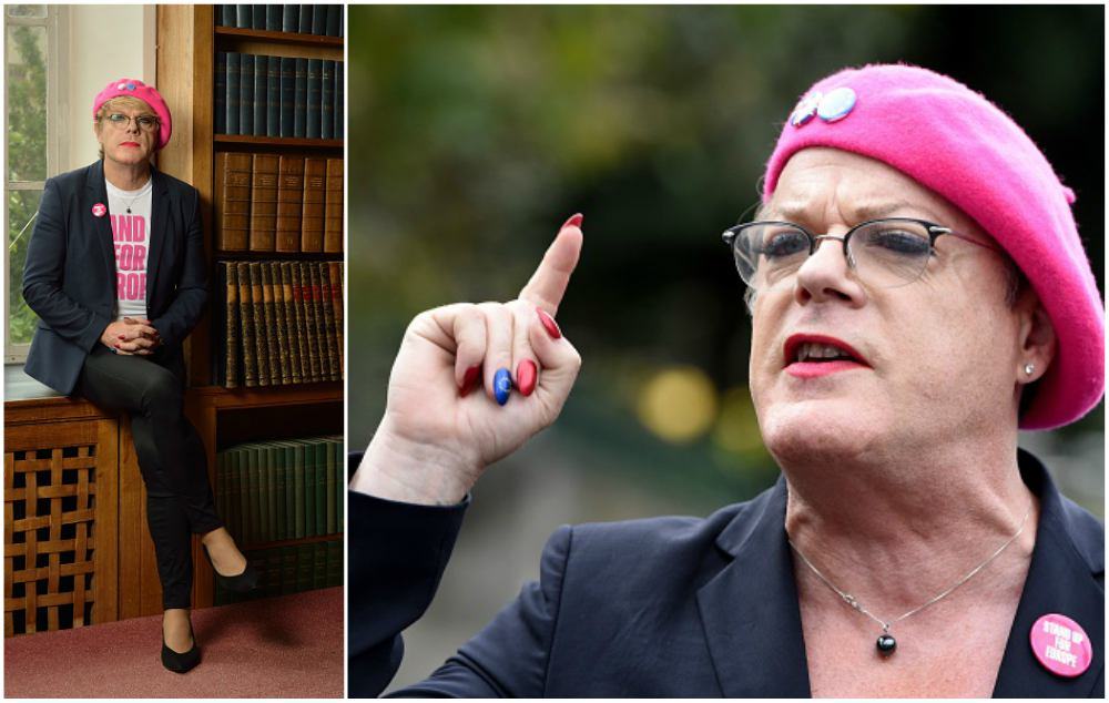 Eddie Izzard dressed like a woman