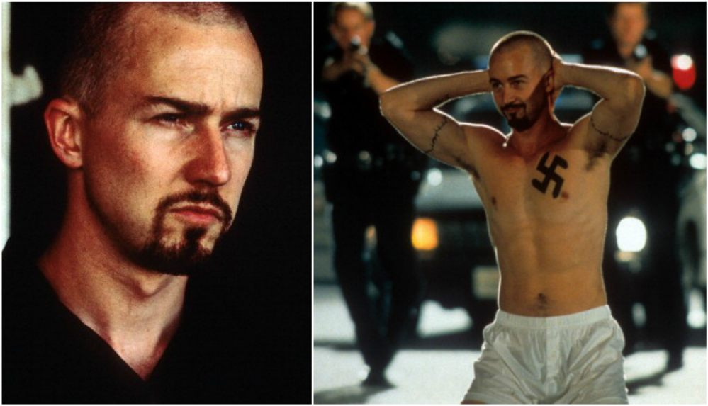 Edward Norton`s body transformation in movie American History X (1998)