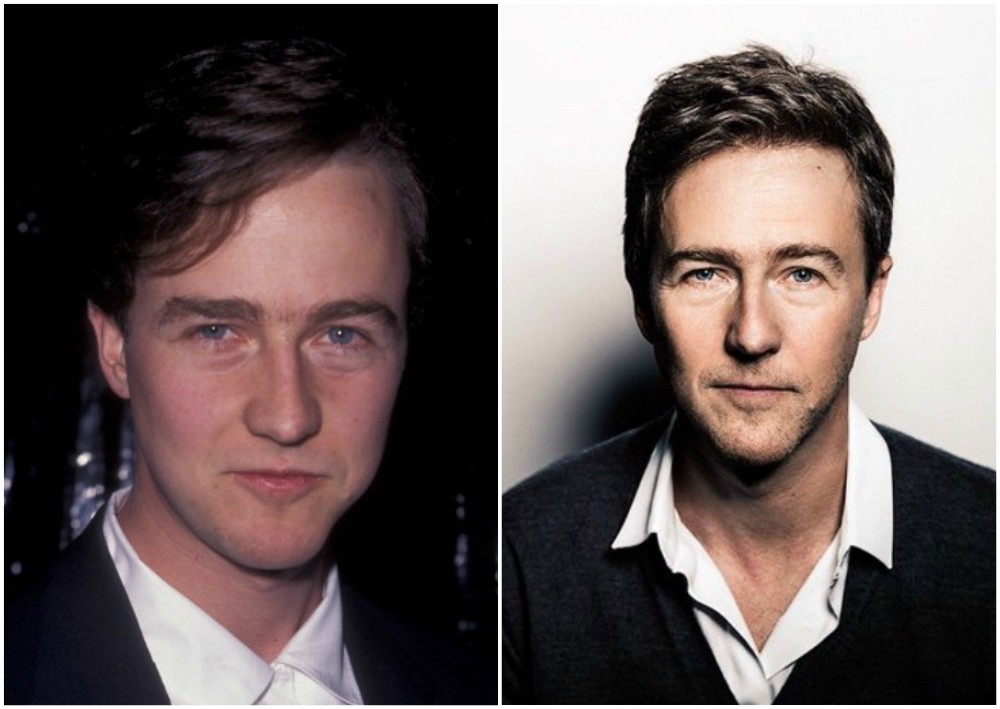 Edward Norton`s eyes and hair color