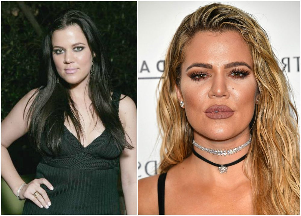Khloe Kardashian`s eyes and hair color