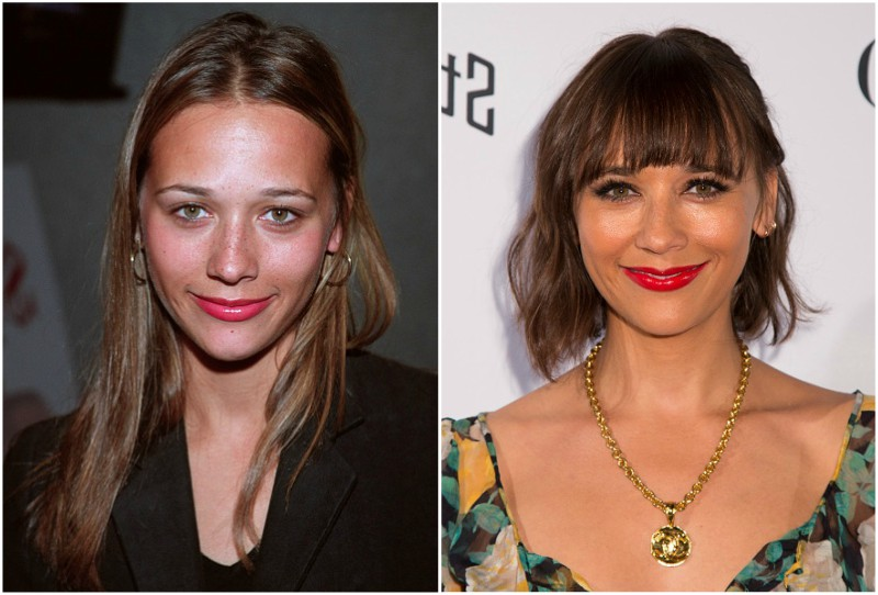 Rashida Jones' eyes and hair color