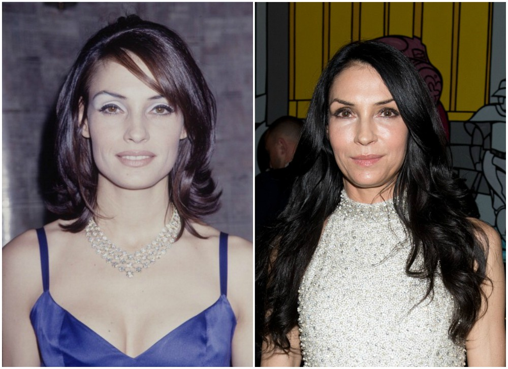 Famke Janssen`s eyes, hair color