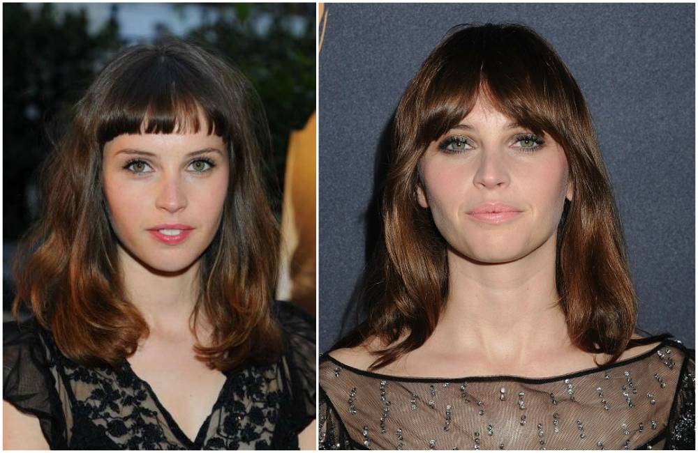 Felicity Jones` eyes and hair color