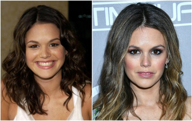 Rachel Bilson`s eyes and hair color
