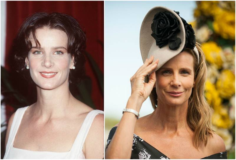 Rachel Griffiths` eyes and hair color