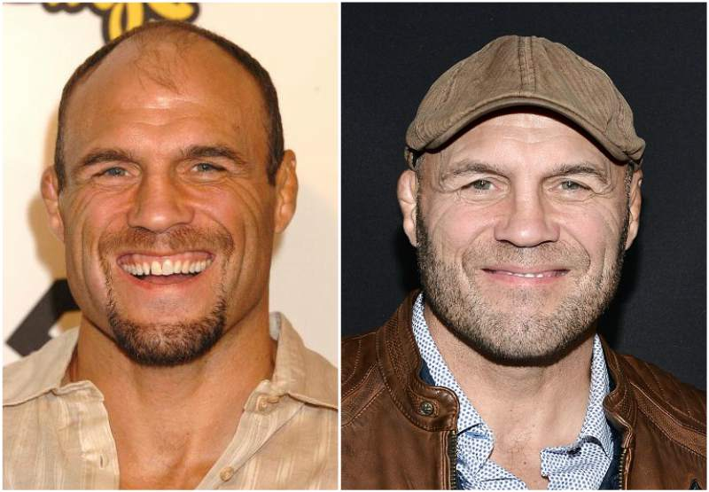 Randy Couture`s eyes and hair color