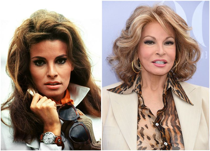 Raquel Welch`s eyes and hair color
