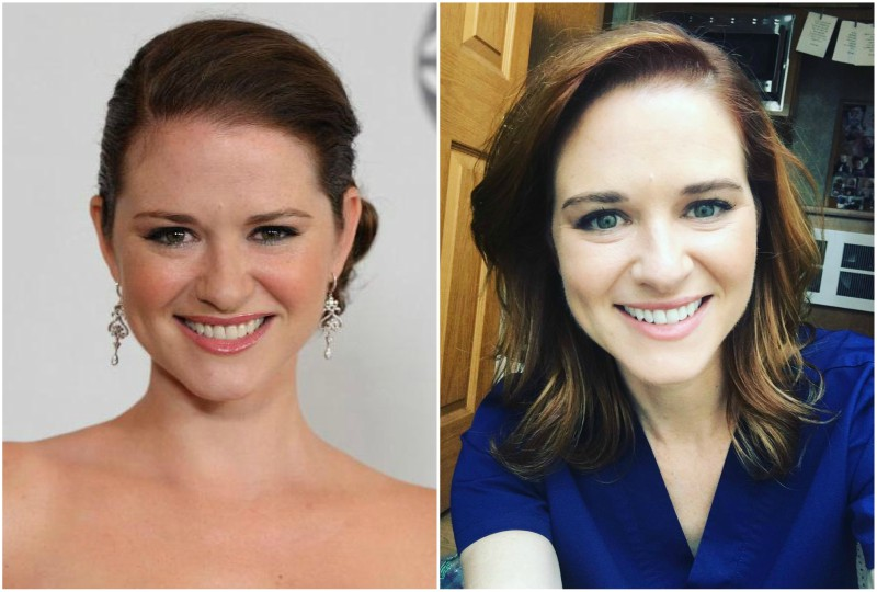Sarah Drew`s eyes and hair color