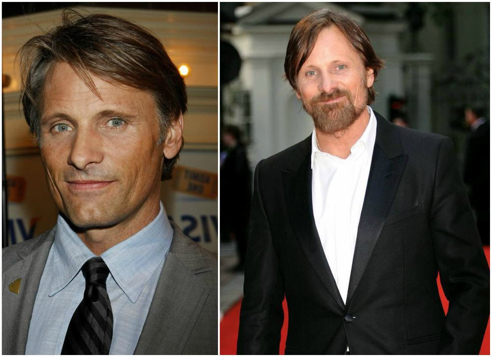 Viggo Mortensen`s eyes and hair color