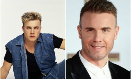 Gary Barlow`s eyes and hair color
