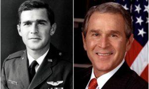George Bush, Jr eyes and hair color