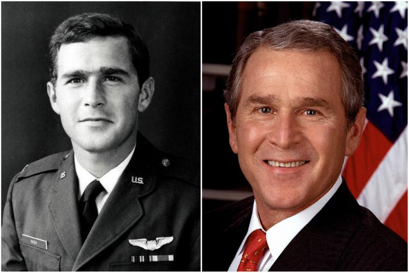 George Bush, Jr eyes and hair color