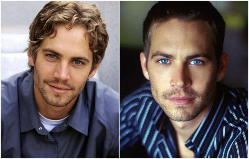 Paul Walker's eyes and hair color