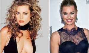 Rebecca Romijn`s eyes and hair color