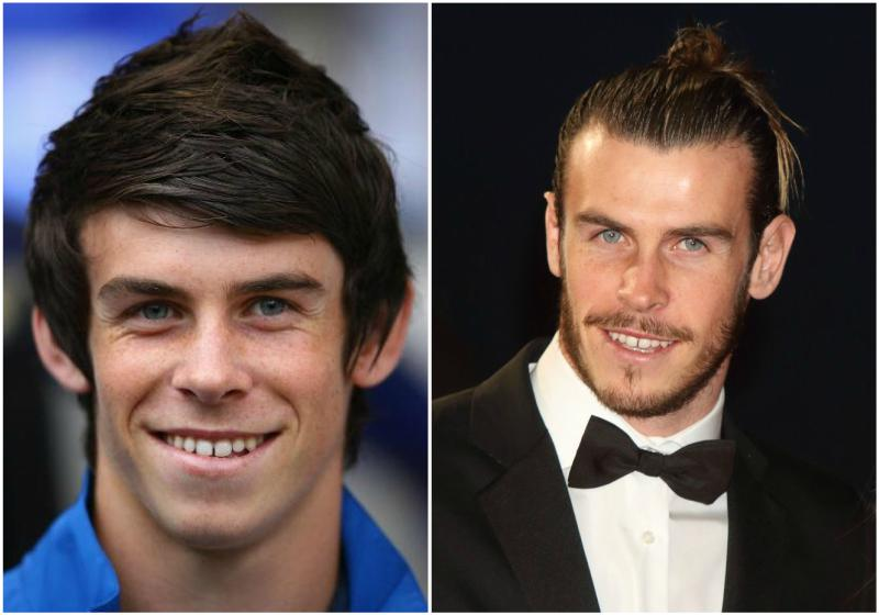 Gareth Bale`s eyes and hair color