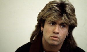 George Michael`s eyes and hair color