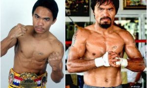 Manny Pacquiao`s eyes and hair color