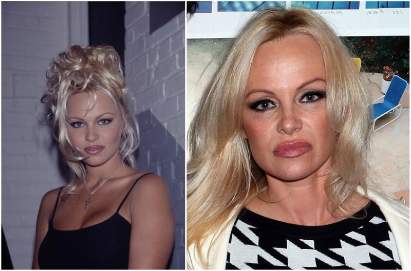 Pamela Anderson`s eyes and hair color