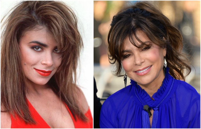 Paula Abdul`s eyes and hair color