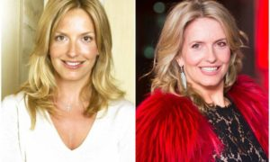 Penny Lancaster`s eyes and hair color