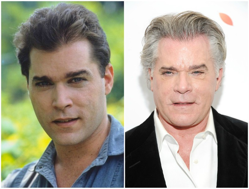 Ray Liotta`s eyes and hair color
