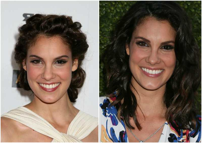 Daniela Ruah`s eyes and hair color