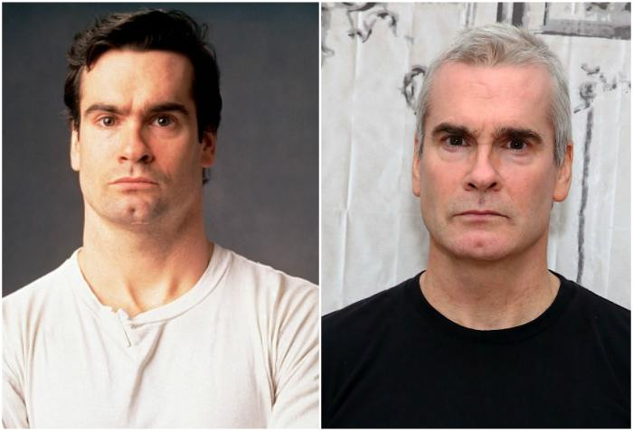 Henry Rollins` eyes and hair color