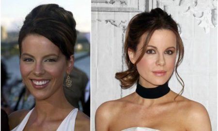 Kate Beckinsale`s eyes and hair color