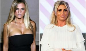 Katie Price`s eyes and hair color