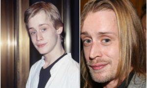 Macaulay Culkin`s eyes and hair color