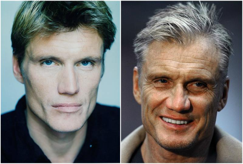 Dolph Lundgren`s eyes and hair color