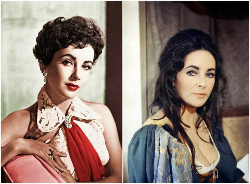 Elizabeth Taylor`s eyes and hair color