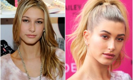 Hailey Baldwin`s eyes and hair color