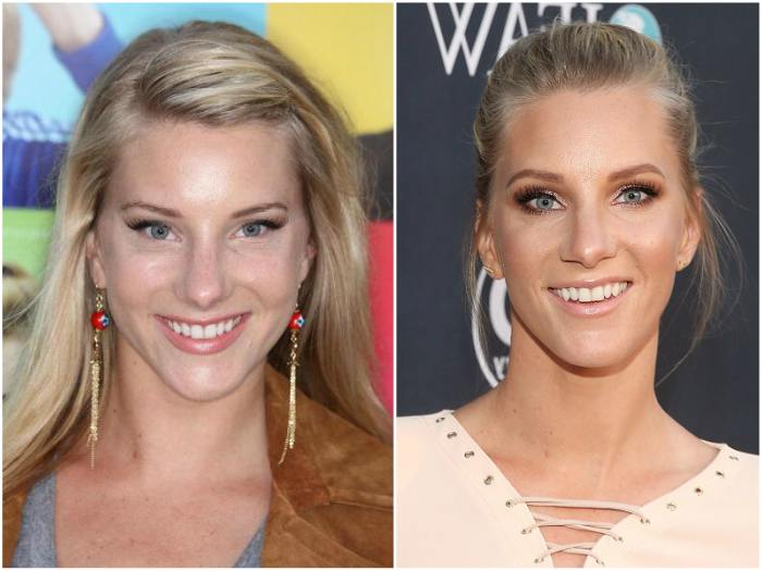 Heather Morris` eyes and hair color