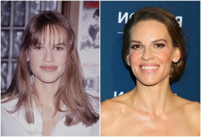Hilary Swank`s eyes and hair color