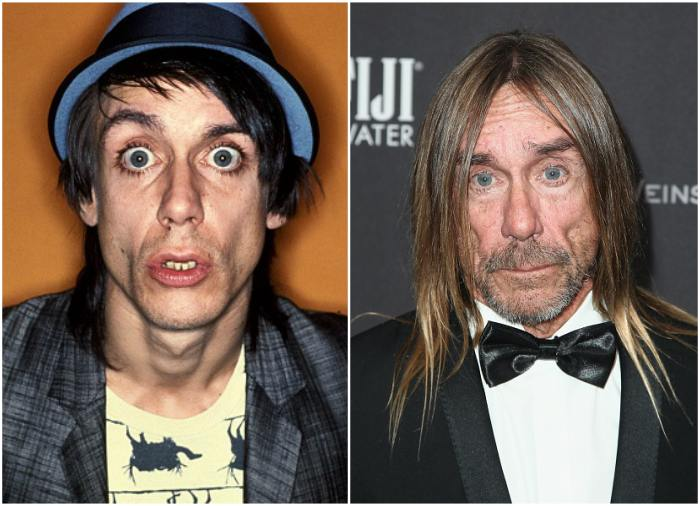 Iggy Pop`s eyes and hair color