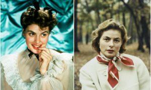 Ingrid Bergman`s eyes and hair color